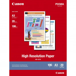 Canon A3 High Resolution paper, 106g/m2 20 ark / HR-101 / 1033A006