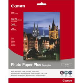 Canon Semi Glossy Fotopapir, 260g 20 ark / SG-201 / 1686B018