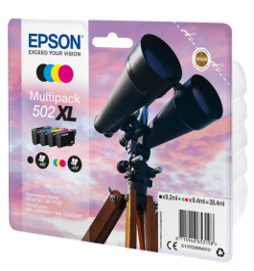 Epson 502XLRABAT / C13T02W64010 CMYK XL bläckpatron - Original