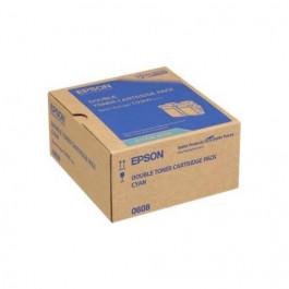 Epson C13S050608 cyan twin pack toner - Original