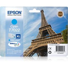 Epson T7022 / C13T70224010 cyan XL bläckpatron - Original