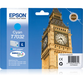 Epson T7032 / C13T70324010 cyan bläckpatron - Original