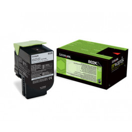 Lexmark 802K / 80C20K0 svart toner - Original