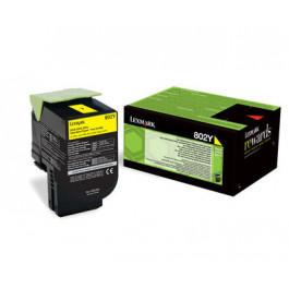 Lexmark 802Y / 80C20Y0 gul toner - Original