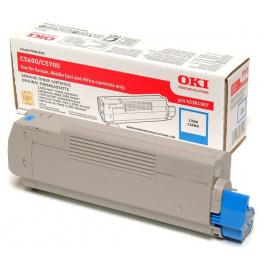 Oki C5600 / 43381907 cyan toner - Original
